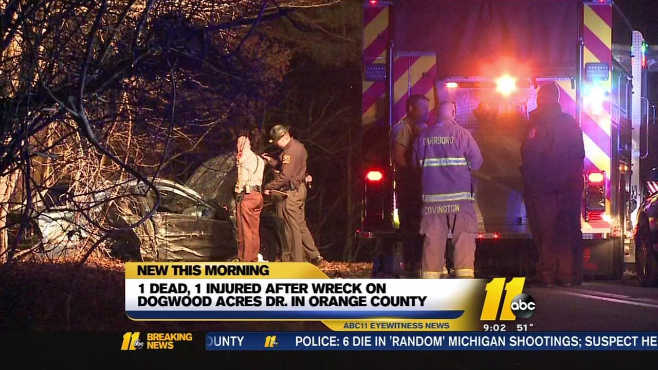 1 killed in wreck in Orange County