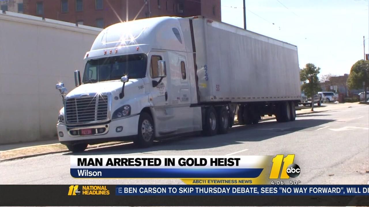 Man arrested in gold heist