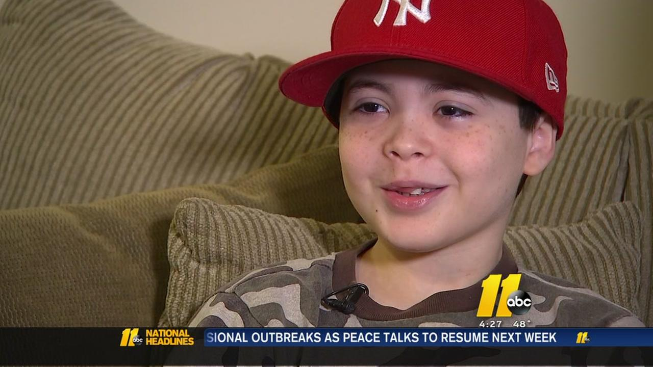 Raleigh boy saved by stranger
