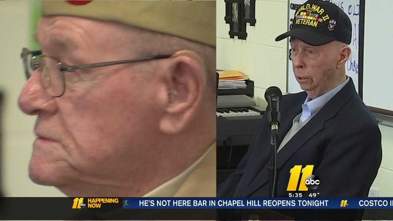 WWII veterans visit Cary school