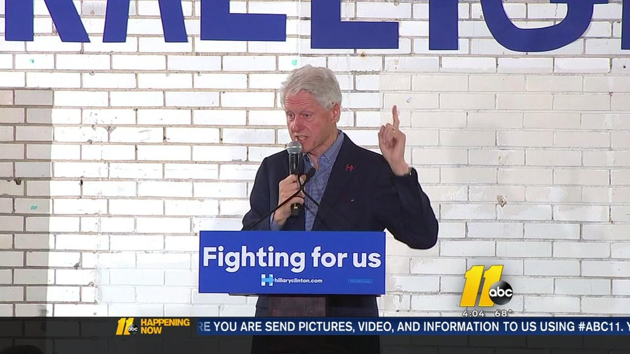 Bill Clinton campaigns in Raleigh