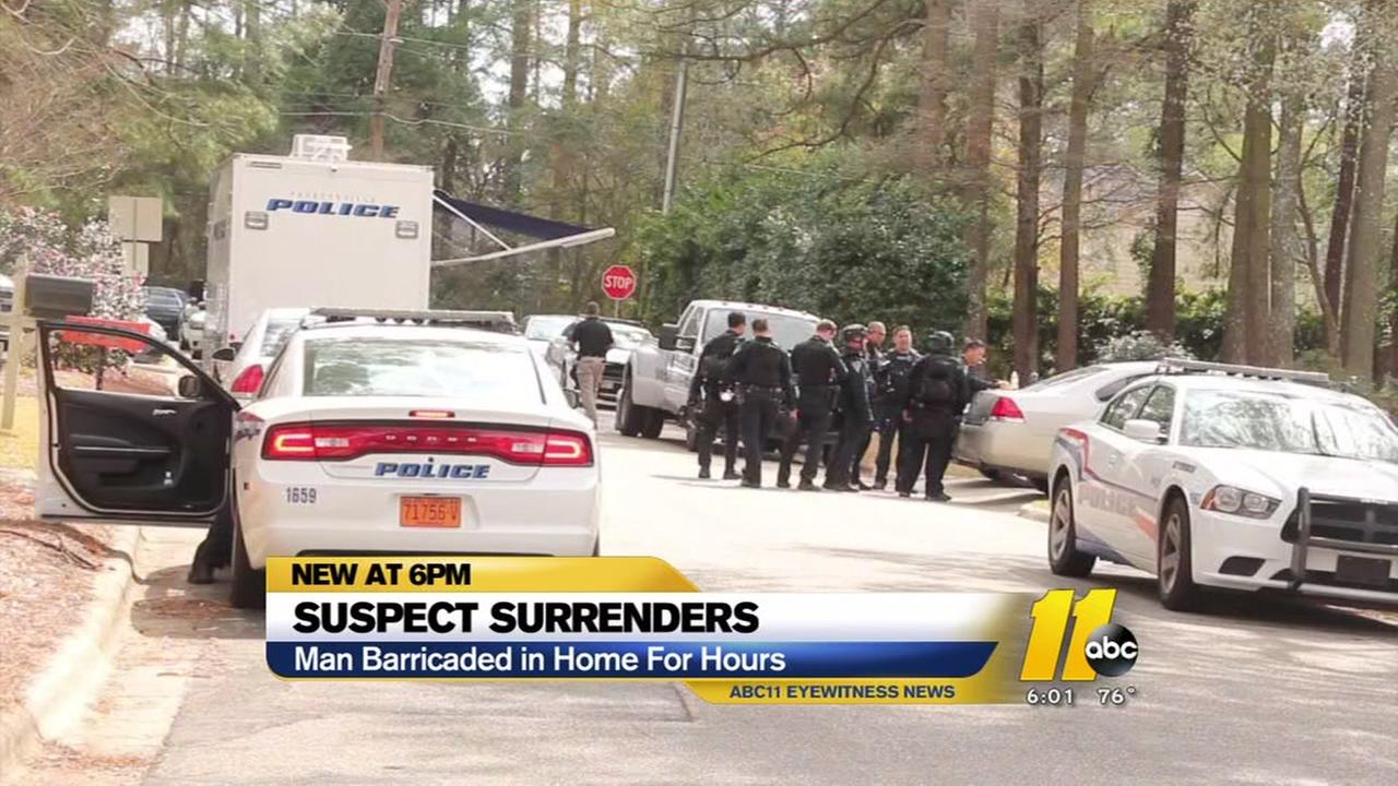 Suspect surrenders after standoff