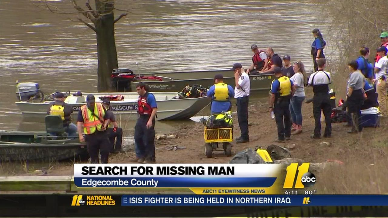 Search for missing man in Tar River