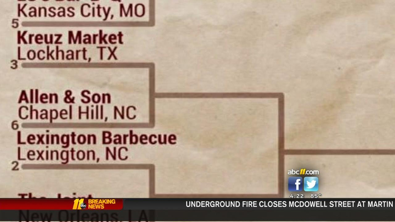 Four barbecue joints from North Carolina made the field of 32.