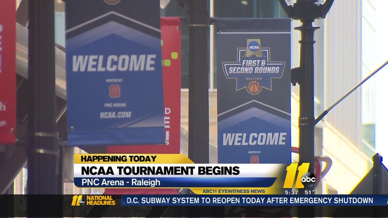 NCAA tournament begins in Raleigh