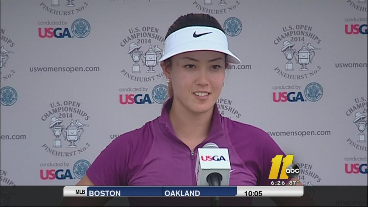 Michelle Wie leads at US Open