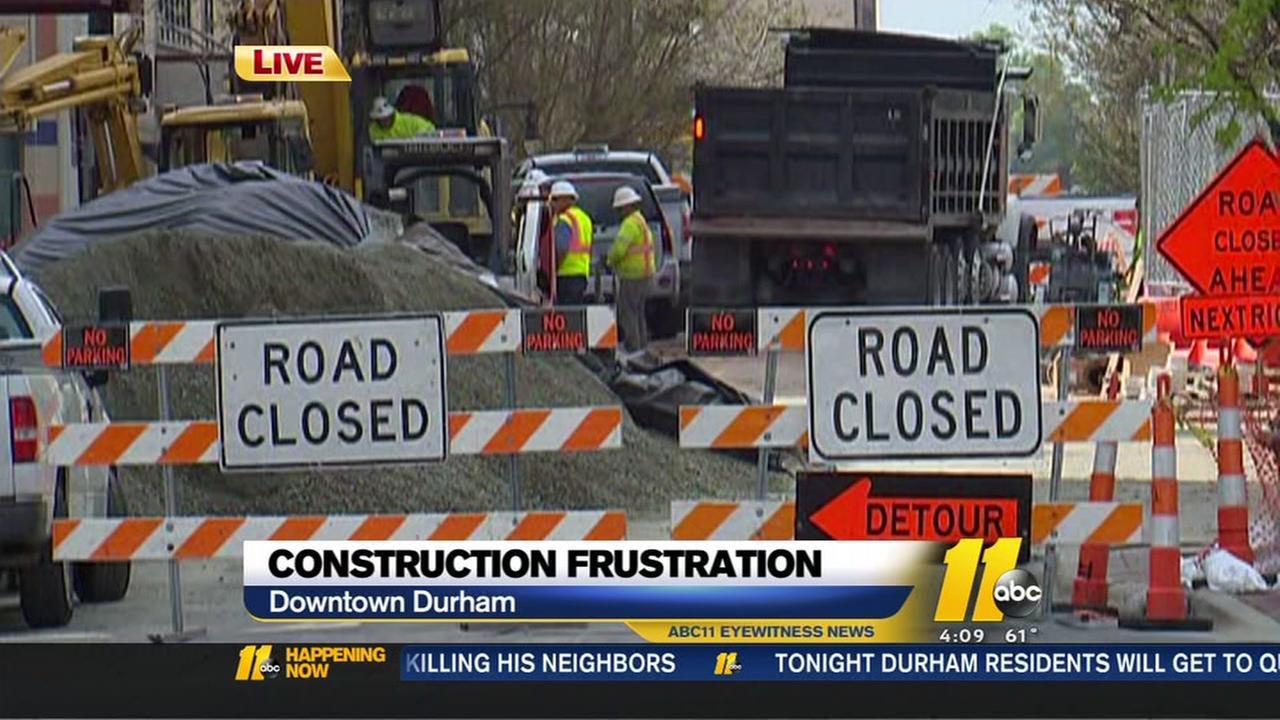 Construction frustration in Durham