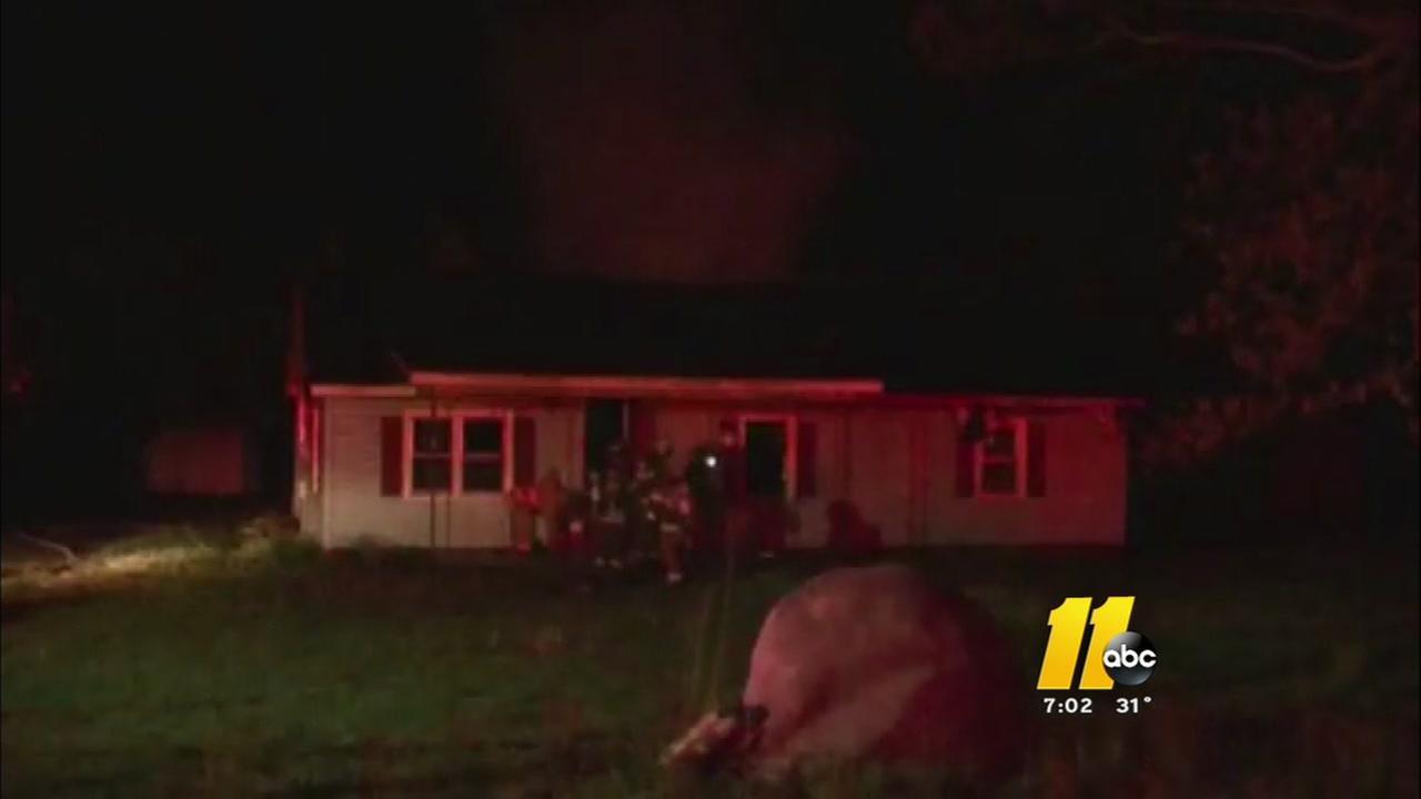 House fire in Johnston County