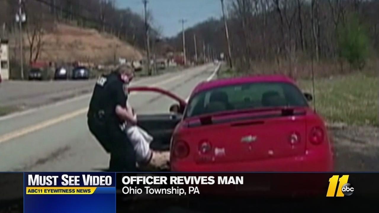 Officer revives man