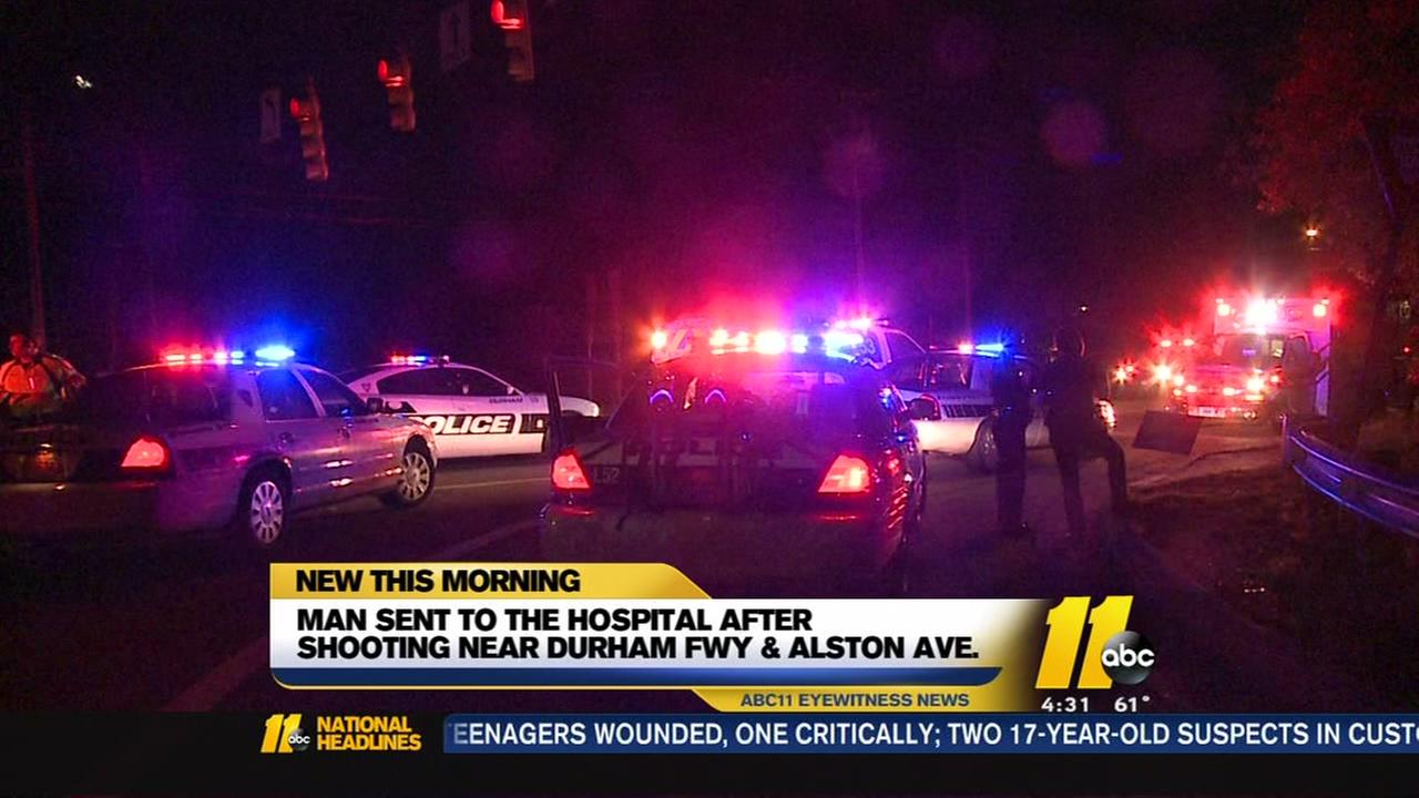 Man rushed to hopsital after Durham shooting