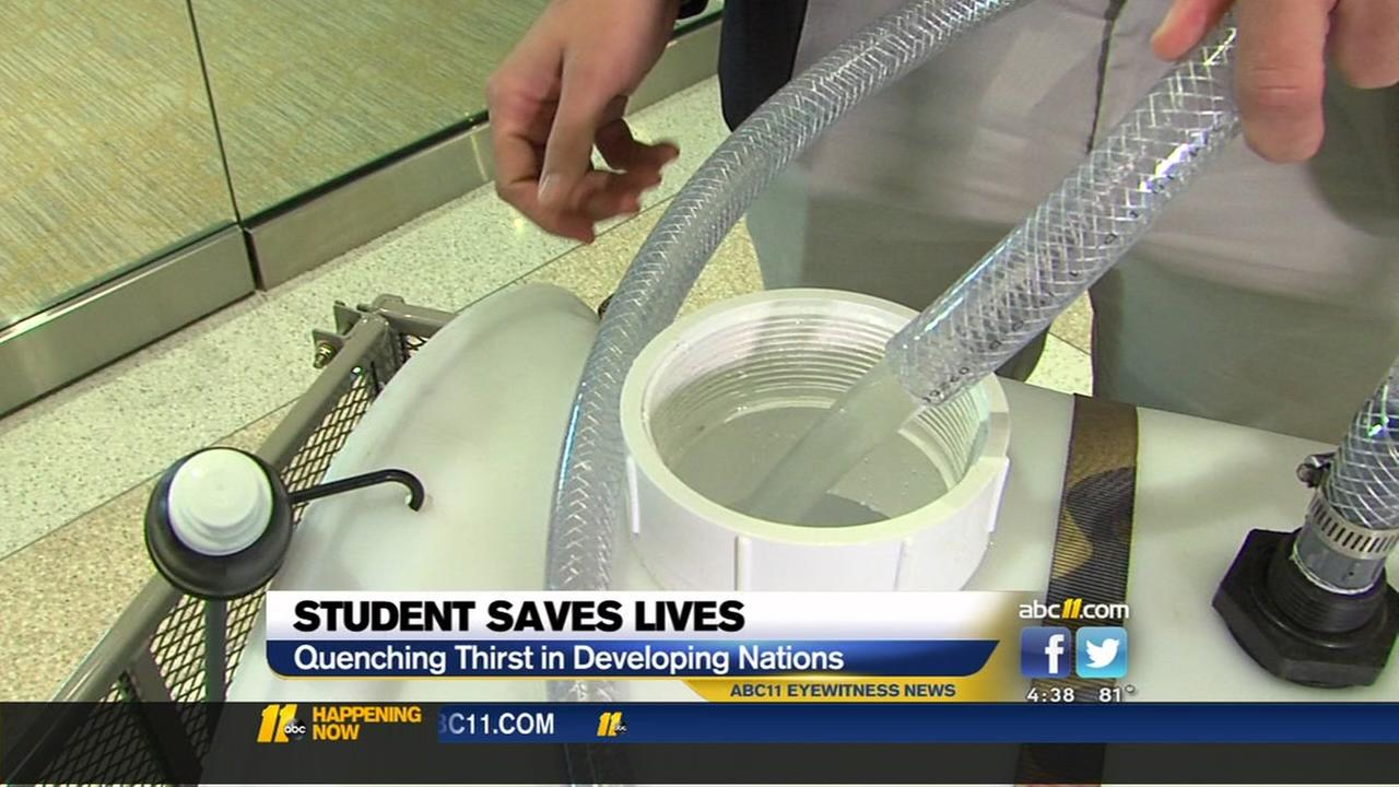 Student develops water filtration system