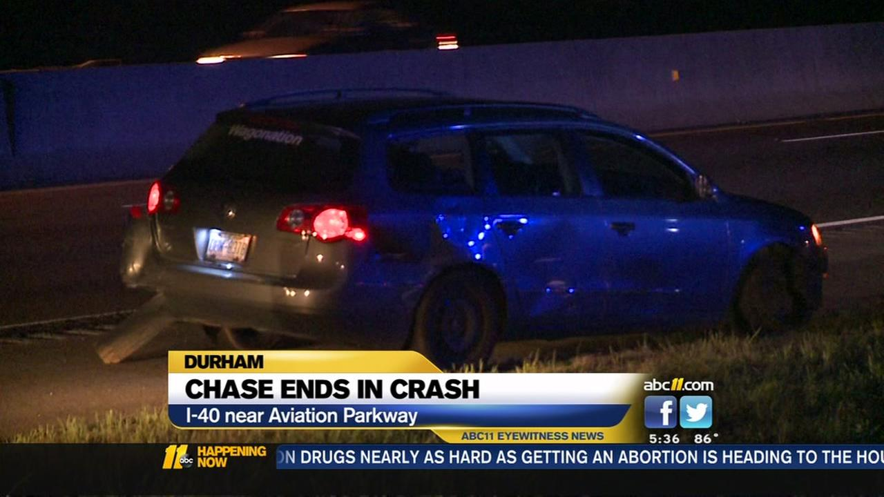 Chase ends in crash
