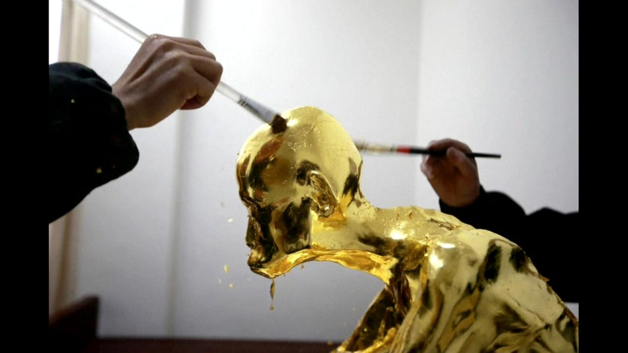 Mummified monk covered in gold