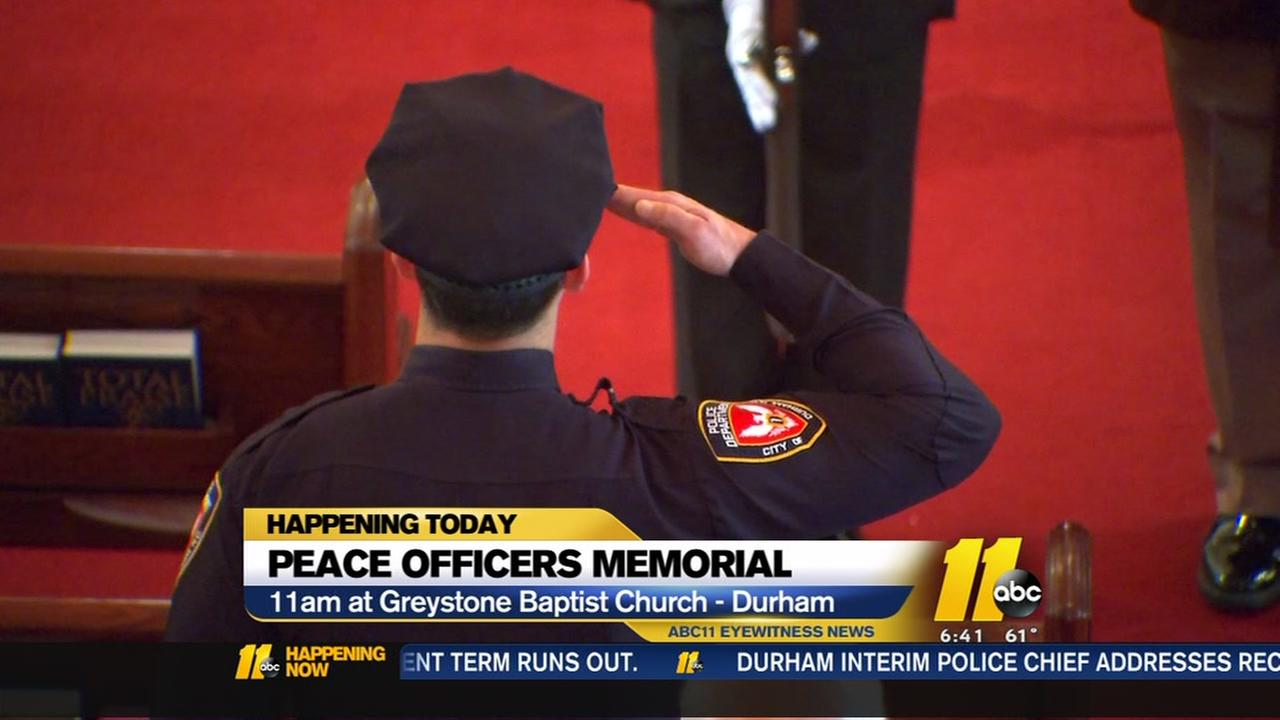 Peace officers memorial to be held today
