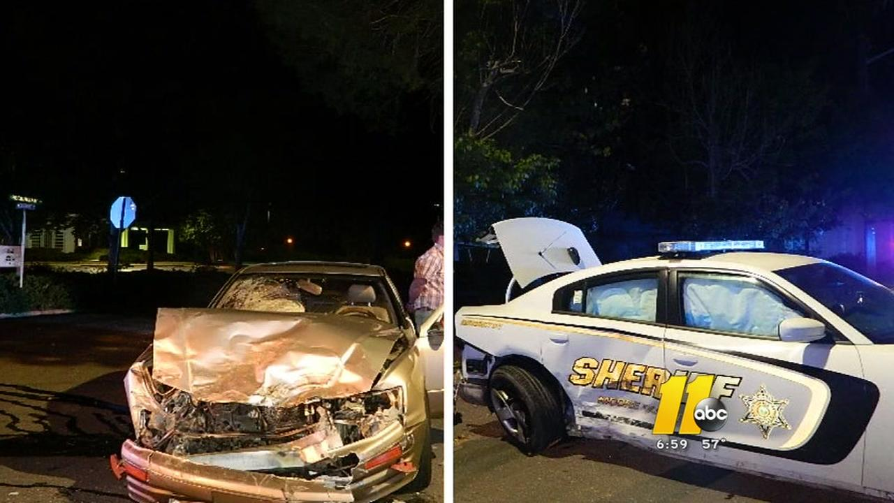Deputy hurt in crash