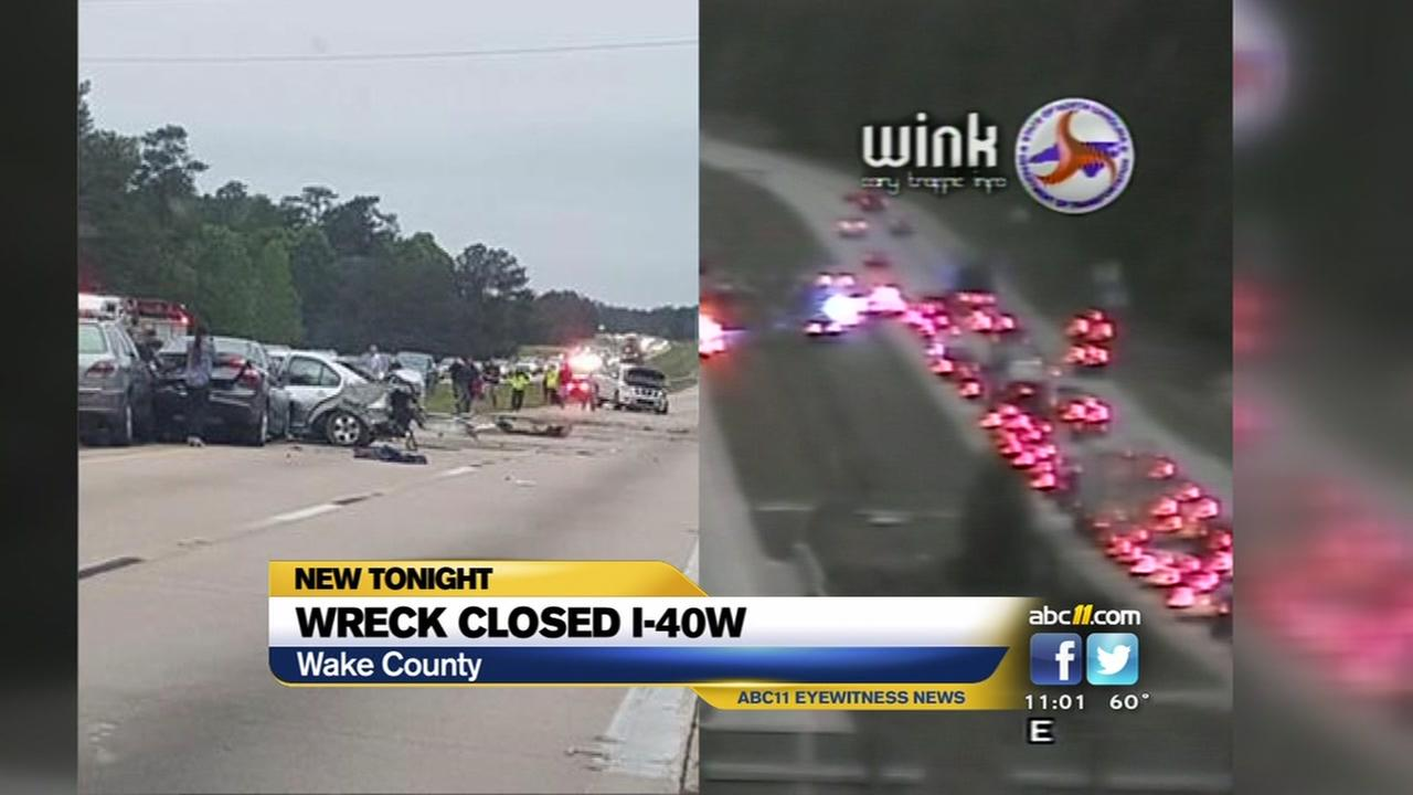 I-40 West shut down due to accident