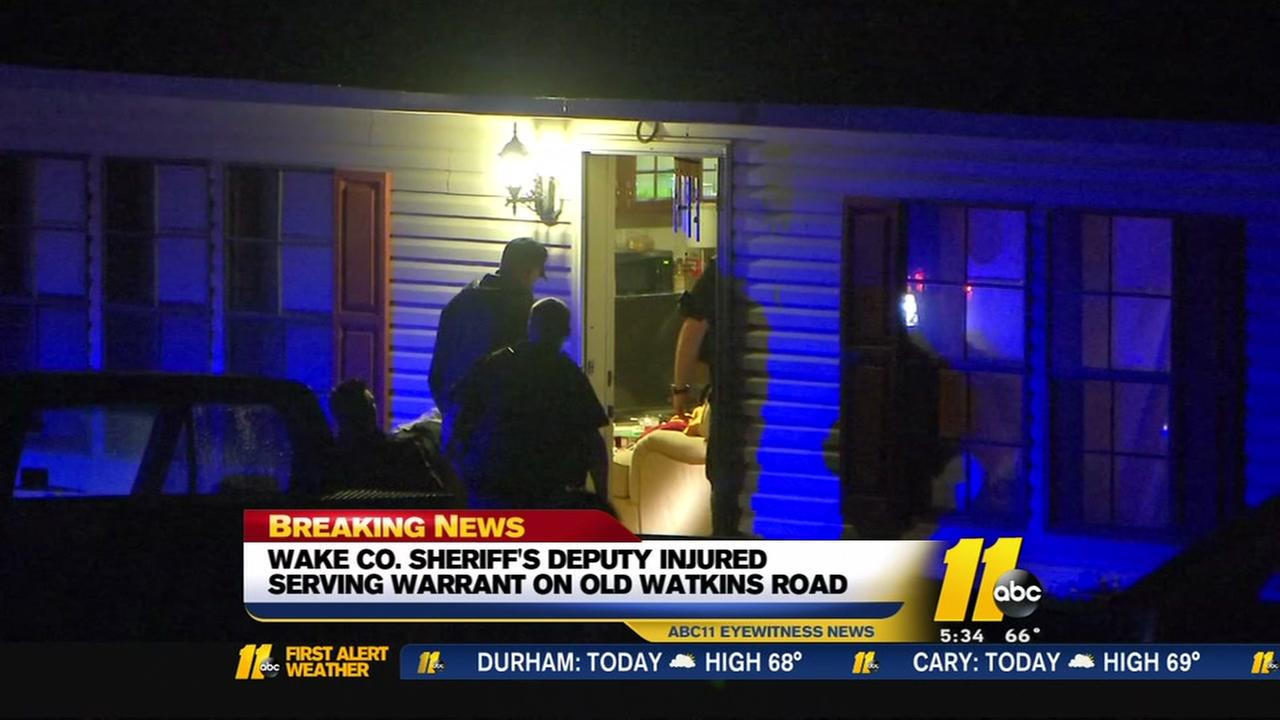 Deputy hurt when shots fired in northeastern Wake County