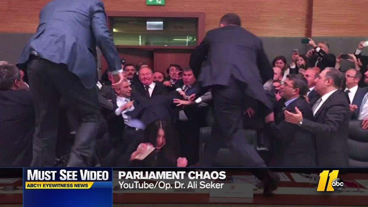 Fight breaks out in parliament