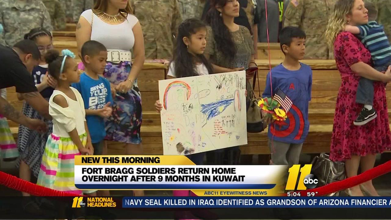 Fort Bragg soldiers return home