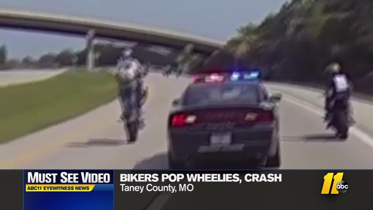 Bikers taunt deputy