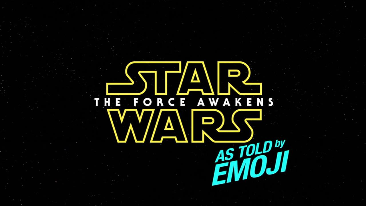 Star Wars: The Force Awakens as told by emojis