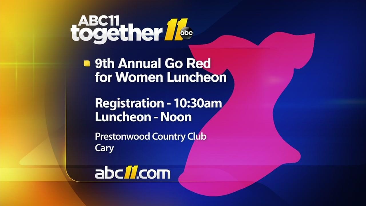 Go Red for Women Luncheon set for May 6