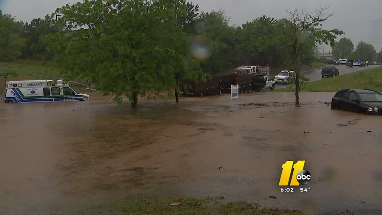 Flash flooding in Raleigh