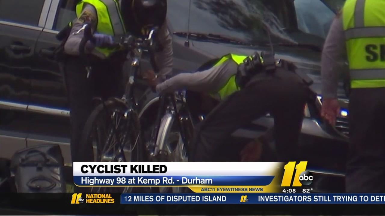Cyclist killed east of Durham