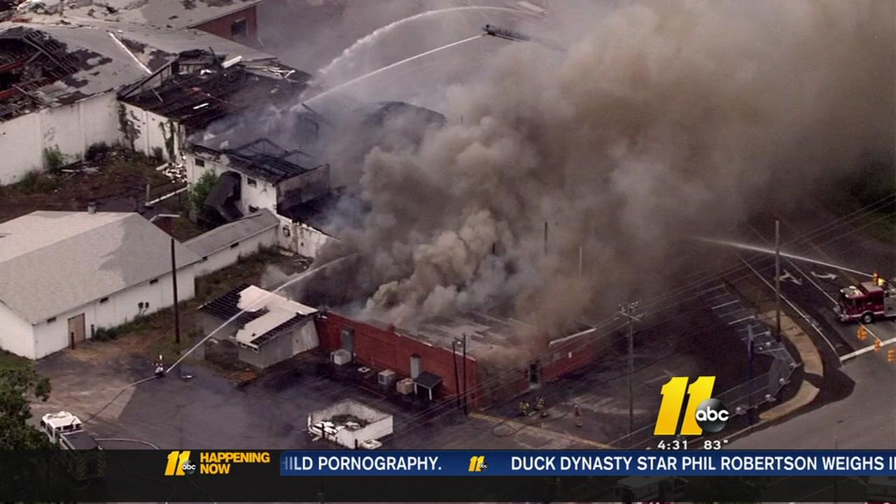 Abandoned warehouse in Dunn goes up in flames