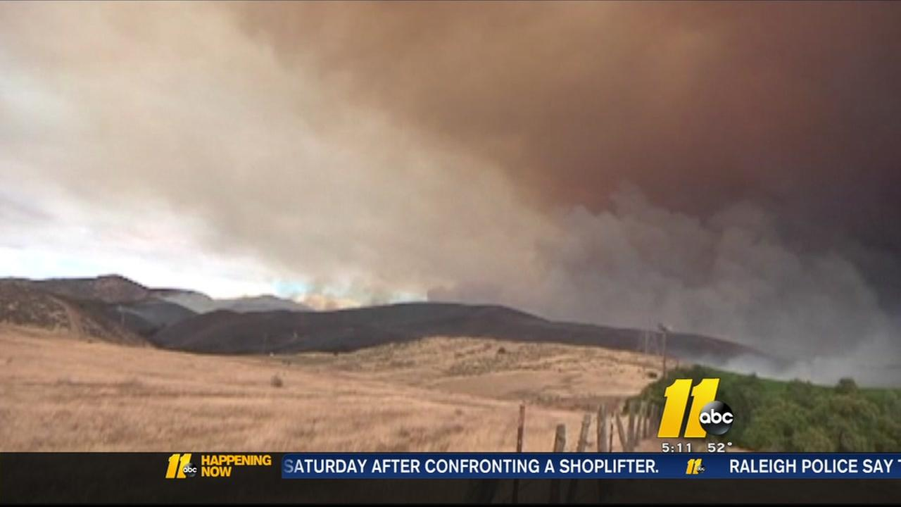 California fire burns 4,000 acres