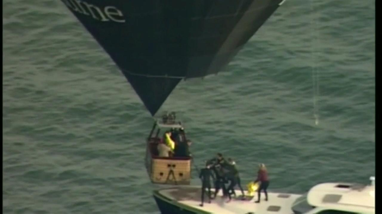 Balloon rescue on the high seas