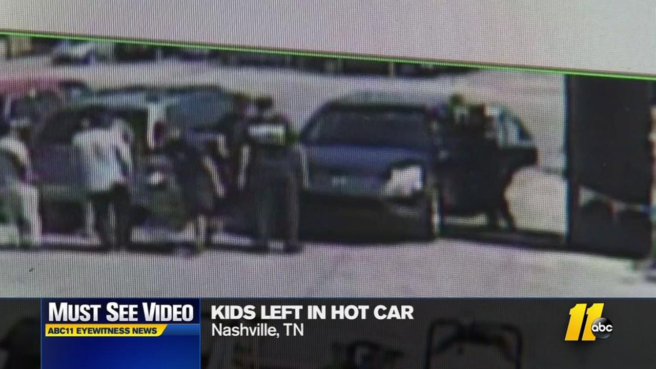 Children rescued from hot car