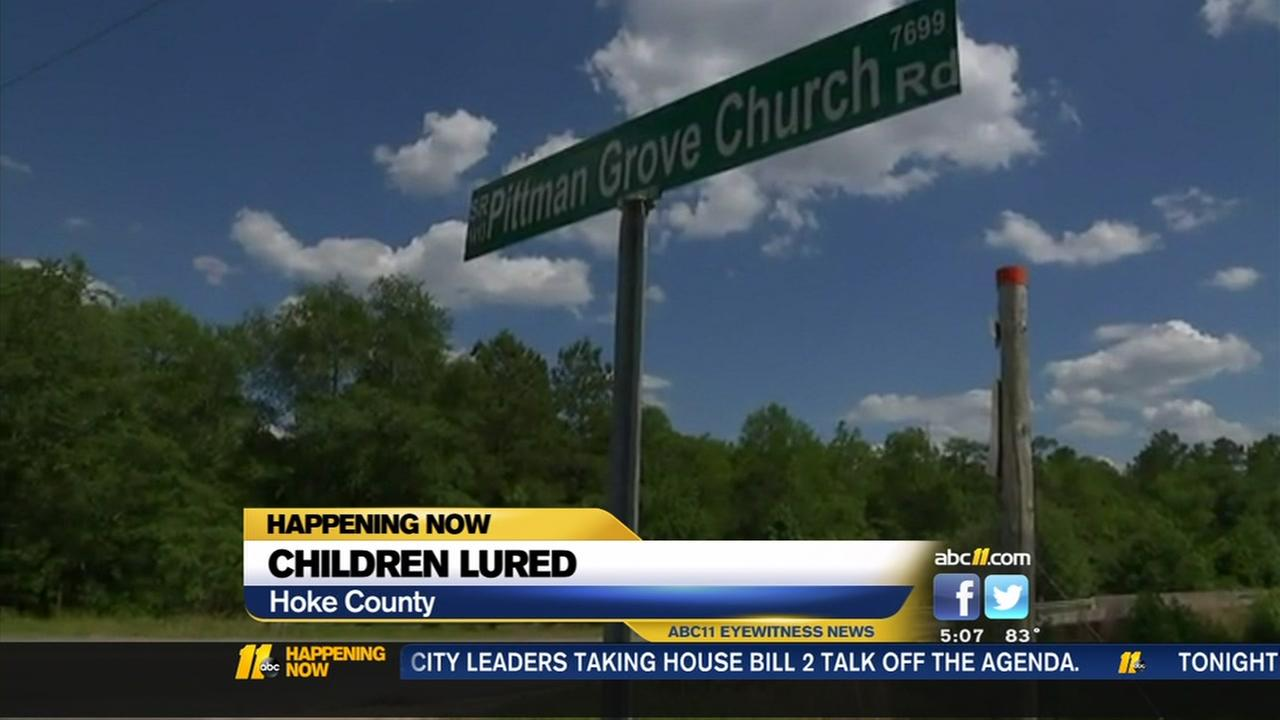 Children lured by men in Hoke County