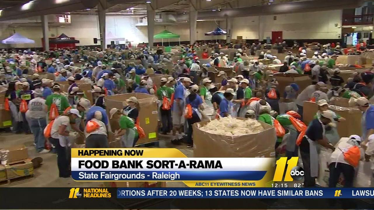 Triangle workers take part in food bank Sort-A-Rama