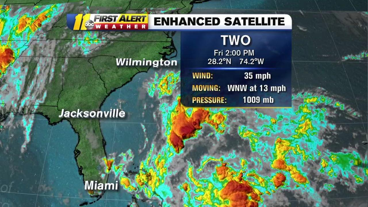 Tropical depression forms in Atlantic