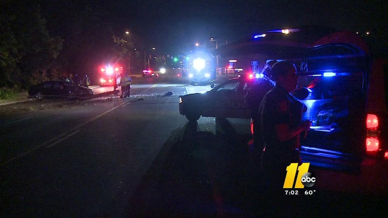 Crash knocks out power in Durham