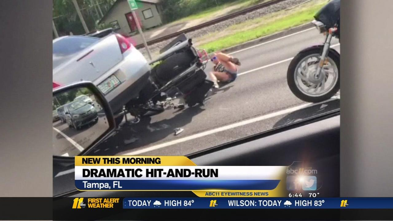Dramatic hit-and-run
