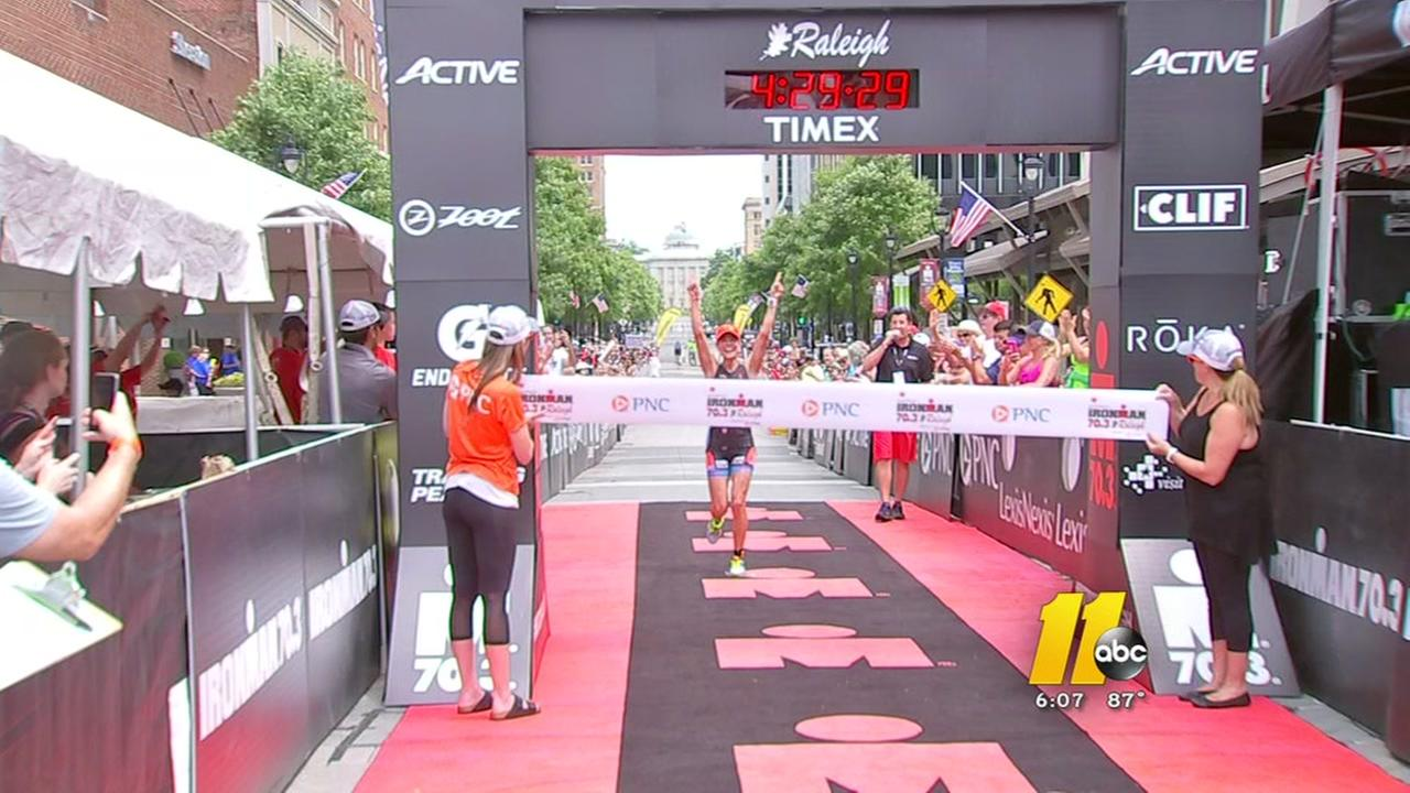 Triathletes compete in Raleigh
