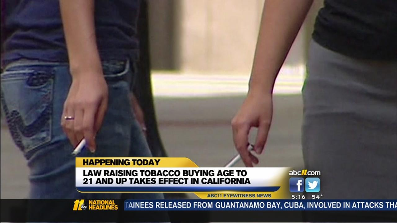 Law raising tobacco buying age to 21