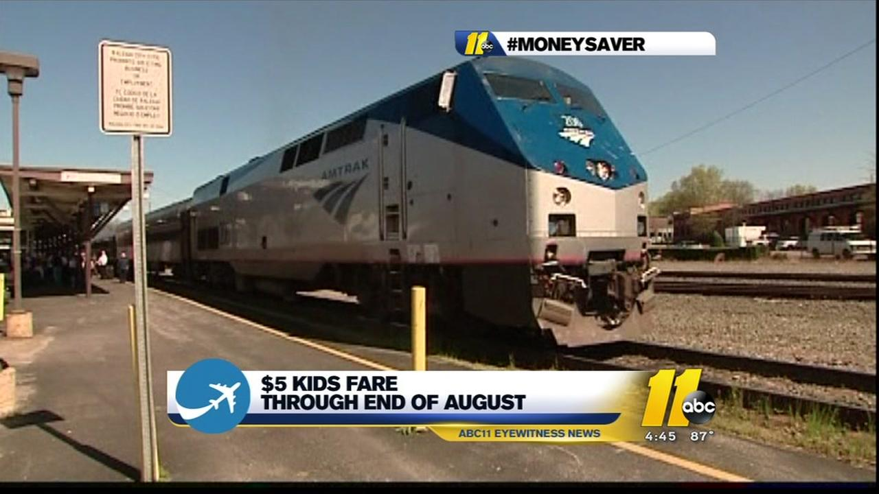 North Carolina Amtrak offers 5 summer kids deal