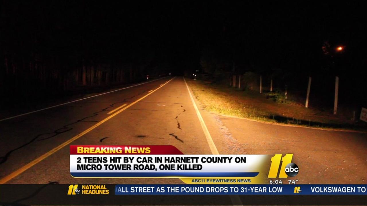 Two teens hit by car in Harnett County, one killed