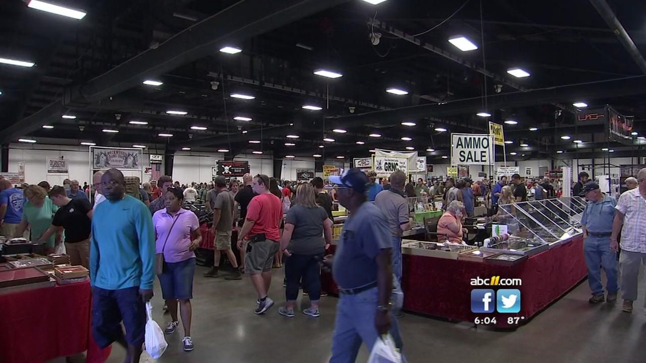 Gun show packed at NC Fairgrounds