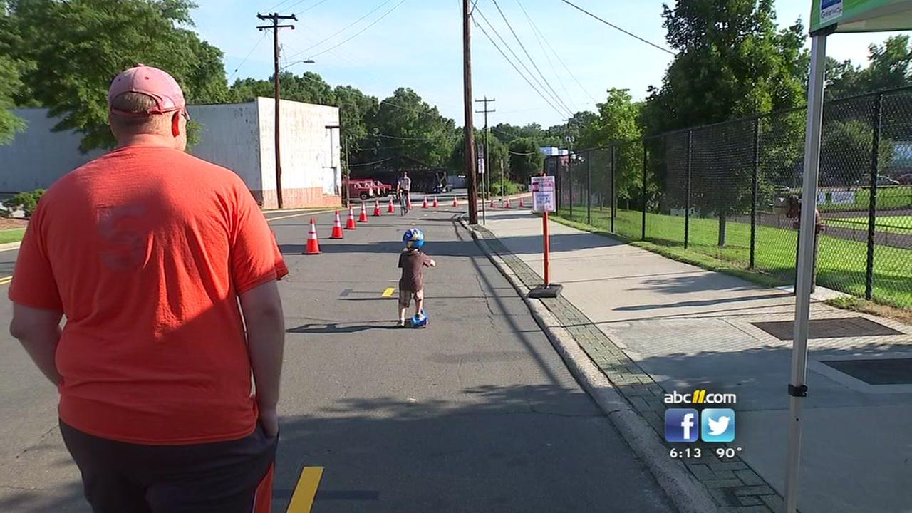 Pop up track aims to protect cyclists