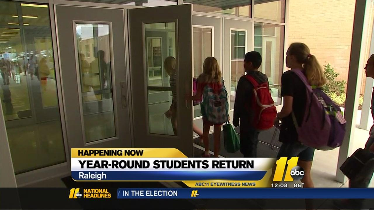 Year-round students return to school