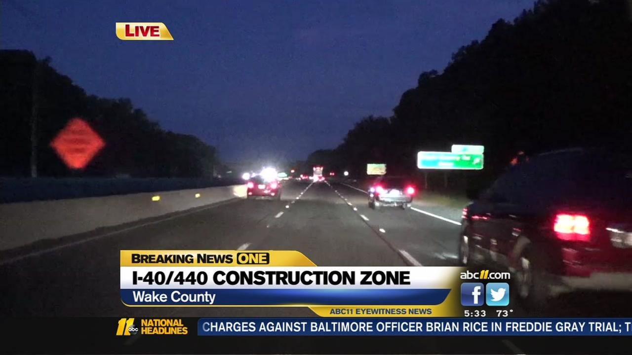 I-40/440 construction zone
