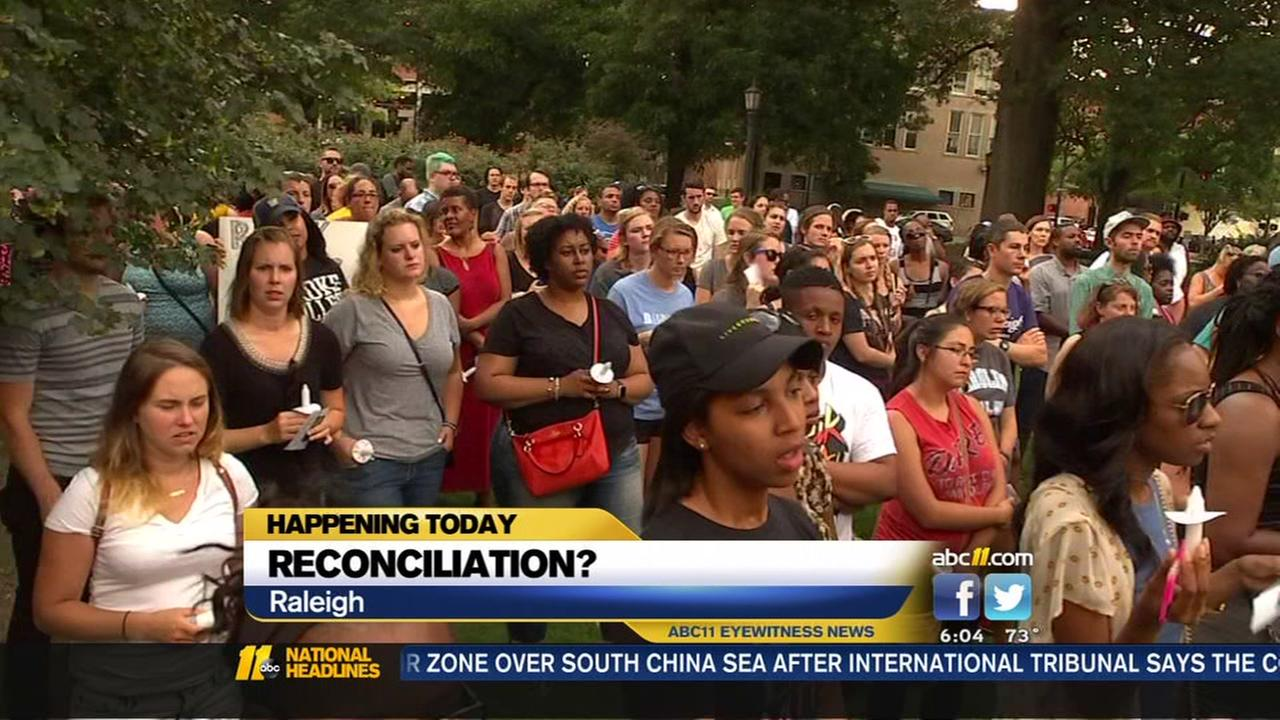Message of hope in Raleigh in wake of unrest
