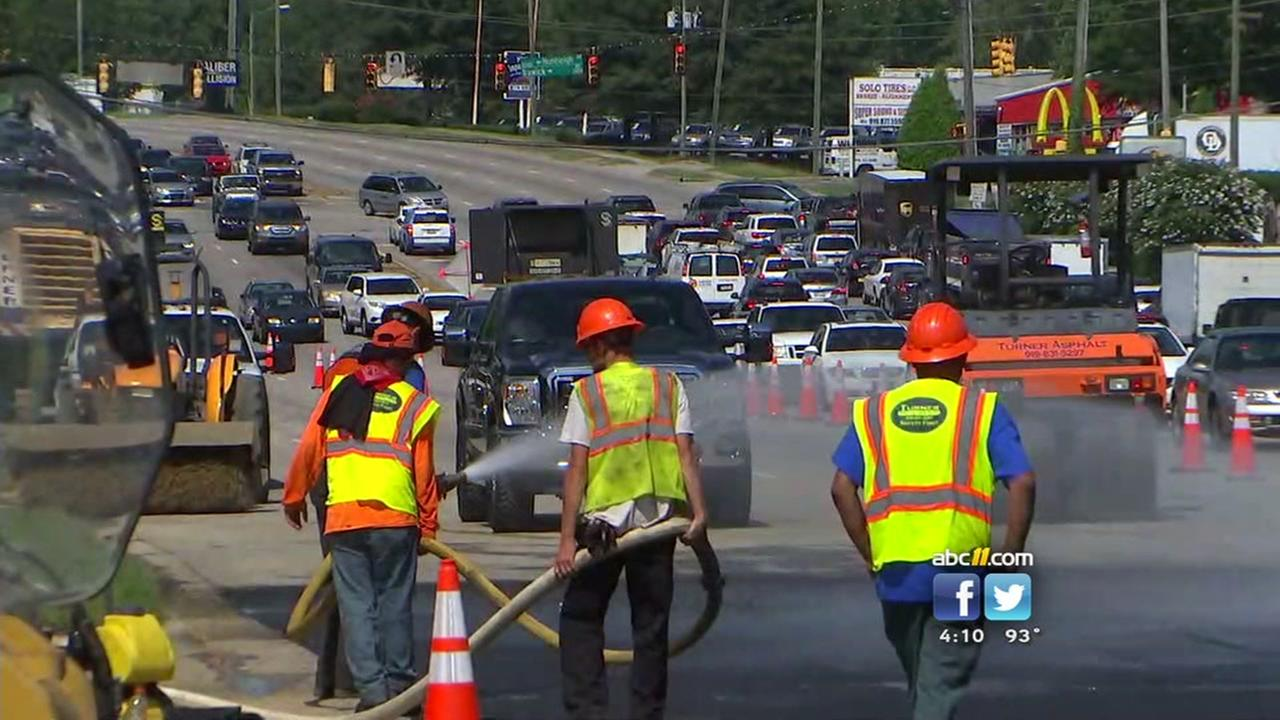 Water main break closes Capital Blvd