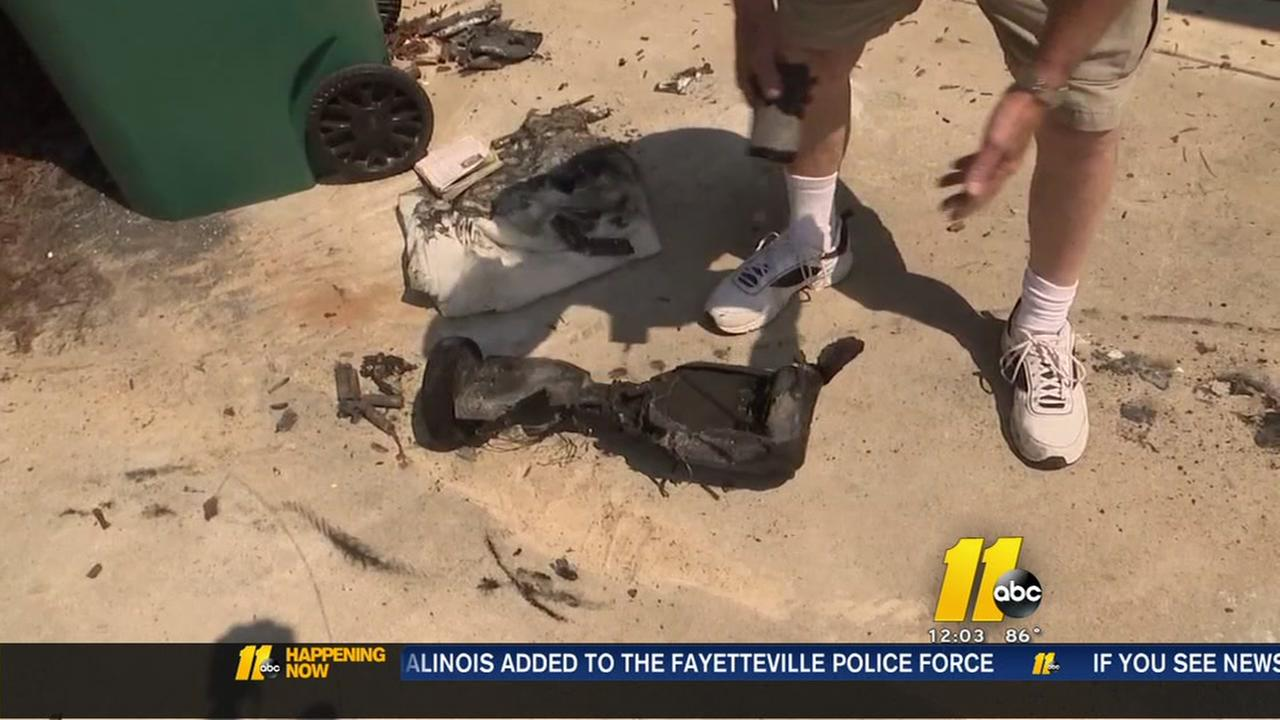 Homeowner says hoverboard started fire