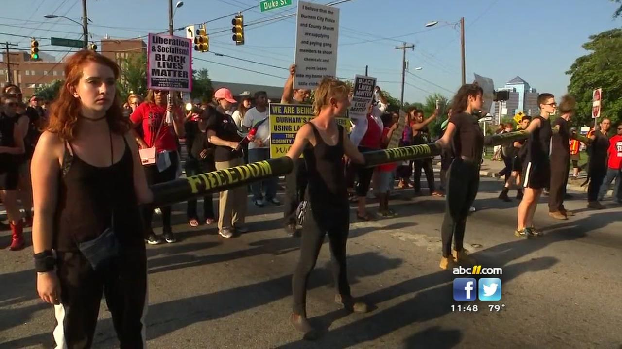 Protestors block Durham streets