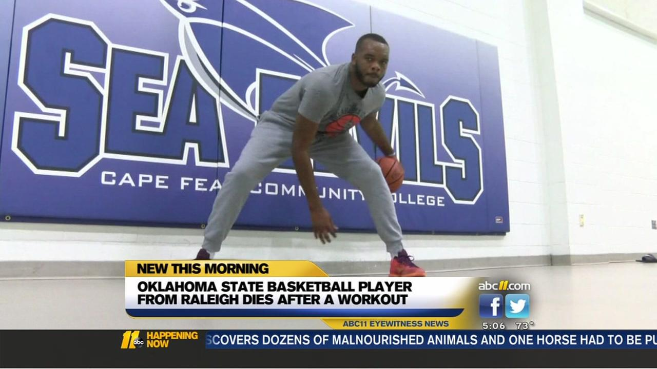 College basketball player from Raleigh dies after workout